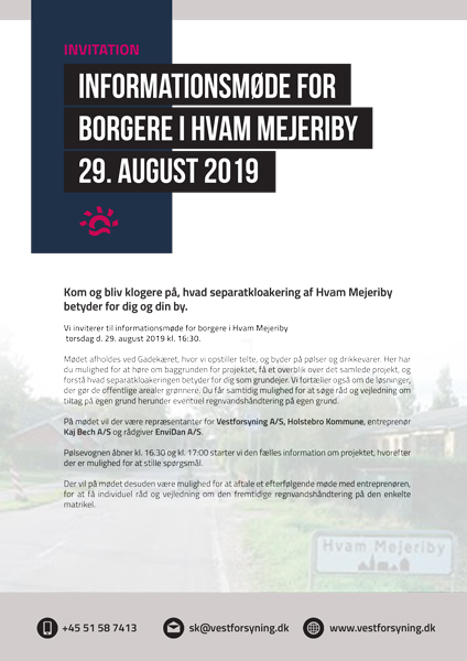 INFORMATIONSMØDE FOR BORGERE I HVAM MEJERIBY 29. AUGUST 2019